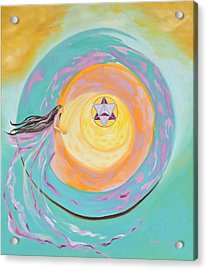 Spiral Toward The Light Acrylic Print by Joyce Small