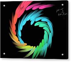 Spiralbow Acrylic Print by Michael Jordan