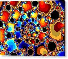 Spiraling Fireballs Acrylic Print by Ester  Rogers