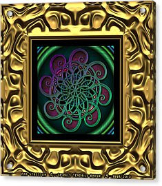 Spirals Tendrils  Acrylic Print by Ann Stretton