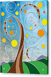 Spiralscape Acrylic Print