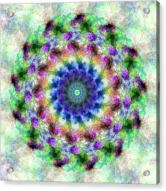 Spirea Mandala #1 Acrylic Print