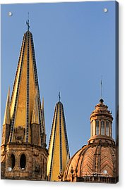 Acrylic Print featuring the photograph Spires And Dome - Cathedral Of Guadalajara Mexico by David Perry Lawrence
