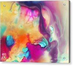 Spirit Abstract Painting Acrylic Print by Justyna JBJart