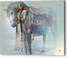 Spirit Horse Acrylic Print by Shadowlea Is