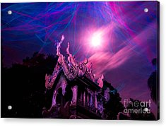 Spirit House In The Supermoon Light Painted Acrylic Print