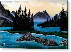 Acrylic Print featuring the painting Spirit Island by Michael Rucker