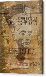 Spirit Of Nefertiti Egyptian Queen   Acrylic Print