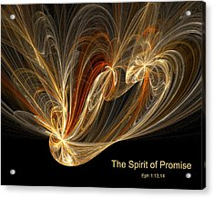 Acrylic Print featuring the digital art Spirit Of Promise by R Thomas Brass