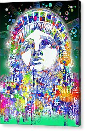 Spirit Of The City 4 Acrylic Print by Bekim Art