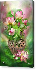 Spirit Of The Lotus Acrylic Print by Carol Cavalaris