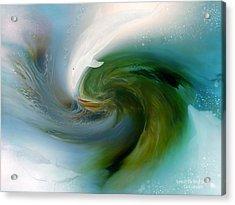 Spirit Of The White Dolphin Acrylic Print by Carol Cavalaris