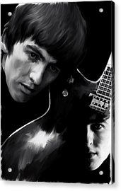 Spirit Play George Harrison Acrylic Print by Iconic Images Art Gallery David Pucciarelli