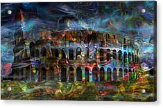 Spirits Of The Coliseum Acrylic Print by Jack Zulli