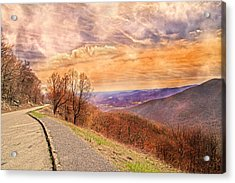 Spiritual Sunset Blue Ridge Parkway Acrylic Print by Betsy Knapp