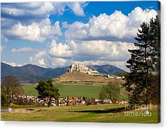 Acrylic Print featuring the photograph Spissky Hrad - Castle by Les Palenik