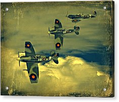 Acrylic Print featuring the photograph Spitfire Flight by Steven Agius