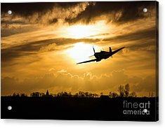 Spitfire Lines  Acrylic Print by J Biggadike