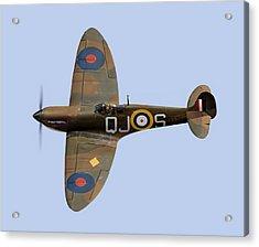Spitfire Mk 1 R6596 Qj-s Acrylic Print by Gary Eason