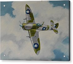 Acrylic Print featuring the painting Spitfire Mk.viii by Murray McLeod