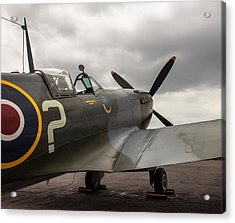 Spitfire On Display Acrylic Print