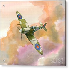 Acrylic Print featuring the painting Spitfire Study by Michael Swanson