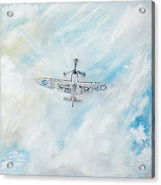 Spitfire Acrylic Print by Vincent Alexander Booth