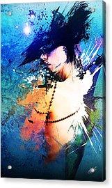 Splash Acrylic Print by Aj Collyer