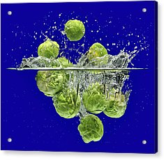 Splash-brussels Sprouts Acrylic Print