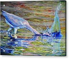 Splash Fishing Acrylic Print