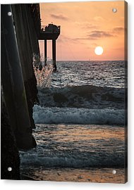 Acrylic Print featuring the photograph Splash by Kevin Bergen