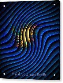 Acrylic Print featuring the digital art Splash Of Color by Visual Artist Frank Bonilla