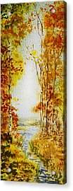 Splash Of Fall Acrylic Print by Irina Sztukowski
