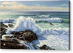 Splash Seascape Acrylic Print by Paul Krapf