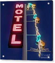 Splashdown Motel Acrylic Print by Martin Konopacki