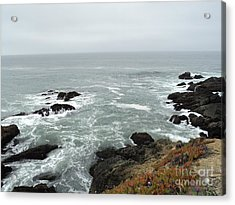 Splashing Ocean Waves Acrylic Print by Carla Carson