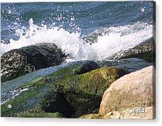 Splashing Rocks Acrylic Print