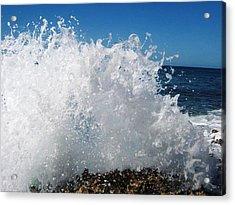 Splashy Island Acrylic Print by Imelda Sausal-Villarmino