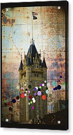 Splattered County Courthouse Acrylic Print by Daniel Hagerman