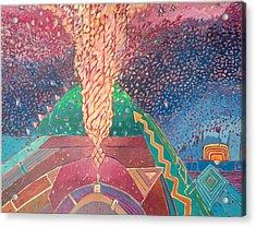 Splendid Magma Acrylic Print