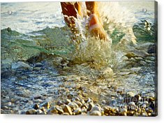 Splish Splash Acrylic Print by Heiko Koehrer-Wagner