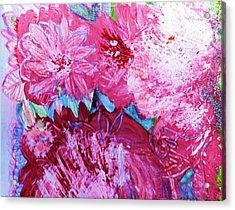 Splishy Splashy Pink And Jazzy Acrylic Print by Anne-Elizabeth Whiteway