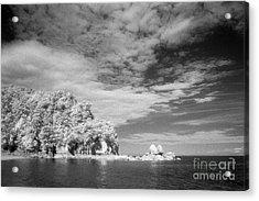 Split Apple Rock Abel Tasman Np Acrylic Print by Colin and Linda McKie
