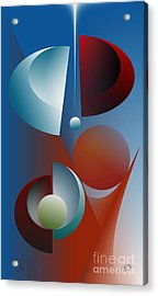 Split Cycle Acrylic Print by Leo Symon