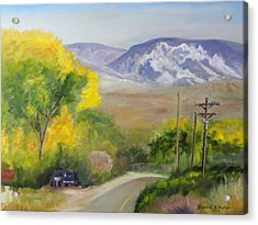 Split Mountain On Golf Course Road Acrylic Print