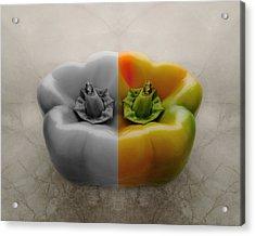 Split Pepper Acrylic Print