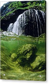 Split-picture From A Waterfall Acrylic Print