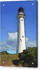 Split Point Lighthouse Acrylic Print by Dennis Lundell