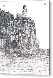 Split Rock Light Acrylic Print by Frederic Kohli