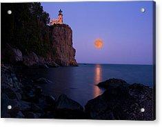Split Rock Lighthouse - Full Moon Acrylic Print